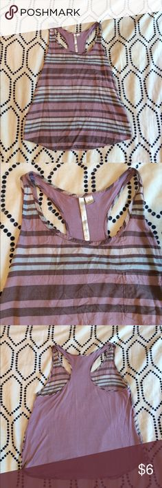 LC Lauren Conrad striped tank top size S LC Lauren Conrad racer back tank top. Size small, solid pale purple on the back and pale light and dark purple, pale blue strips and pocket on the front. LC Lauren Conrad Tops Tank Tops