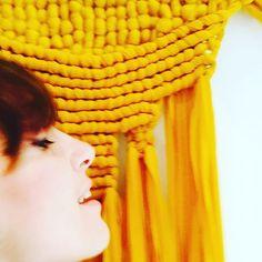 #macrame #wallhangingmacrame #textileart #textiledesign  by Sara Pierazzuoli, weaver, textile artist, pom-pom.me, https://www.etsy.com/it/shop/pompomfromflorence