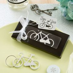 Bicycle Key Charm Bottle Opener Mens Wedding Favours Personalized Favors