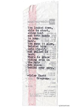 Typewriter Series #879 by Tyler Knott Gregson *Pre-Order my book, Chasers of the Light, and donate $2 to @TWLOHA and get a free book plate signed by me :) Click the link in my bio, or go here: tylerknott.com/chasers*