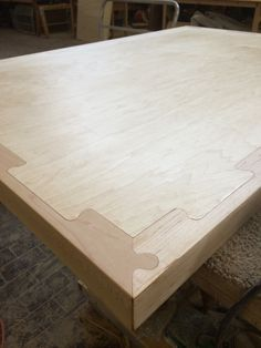 Housefish table prototype- #cnc puzzle joinery