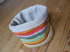 super cute & functional lined crochet basket.....