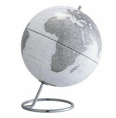 World Map Globe White