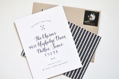 Oh So Beautiful Paper: Lauren's Modern Black and White Moving Announcements