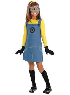 Girls Despicable Me Minion Costume  from Party City