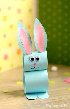 Kids Crafts Easy Easter - Paper Bunny Craft Easy Easter Craft for Easter Crafts for Kids - Fun DIY Ideas for Kid-Friendly Easter Activities - Country LivingPaper Bunny Craft – Easy Easter Craft for Kids There's just enough time left to ma Easter Crafts For Toddlers, Spring Crafts For Kids, Easter Art, Easter Projects, Bunny Crafts, Crafts For Kids To Make, Easter Crafts For Kids, Easter Activities, Easter Decor