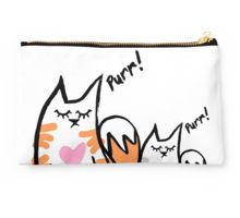 Love Cats Studio Pouch by SkinnyMalinky Designs