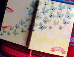 cuaderno #mariposas #butterfly #Marilú