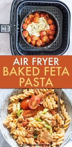 The TikTok viral recipe everyone's talking about, Air Fryer Baked Feta Pasta, gets a buffalo chicken twist! This easy pasta recipe is incredibly simple to make with amazing flavors. You'll love how… Air Fryer Dinner Recipes, Air Fryer Recipes Vegan, Lunch Recipes, Appetizer Recipes, Breakfast Recipes, Veggie Recipes, Healthy Recipes, Noodle Recipes, Meal Recipes