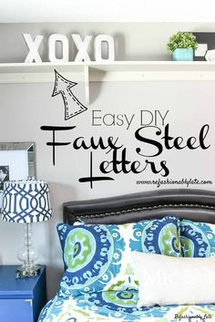 DIY Faux Steel Lette