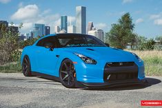 Nissan GTR - CV7 | Love this bright blue color.