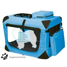 Pet Gear Portable Soft Crate-21 inches-Blue - PG5521OB, Durable