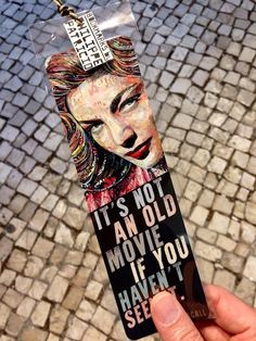NEW BOOKMARK AVAILABLE  // LAUREN BACALL // (front view - 6 x 20cm) a small edition by the artist // from the original collage artwork by ©philippe patricio / all rights reserved