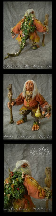 This is the photo preview of The Ancient creature. Ooak Art Doll One of a Kind Fantasy Sculpture
