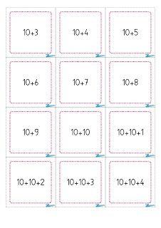 Cartes additions 10 et unités