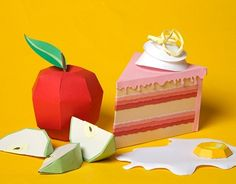 3 Paper food projects symbolising Dutch-Engish sayings and idioms