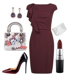 """Max Mara"" by arta13 on Polyvore featuring MaxMara, Christian Dior, Miadora, Christian Louboutin, Allurez and MAC Cosmetics"