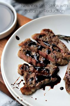 New York Strip Steak with Balsamic Reduction | Add this on top of your salad for an extremely tasty meal!