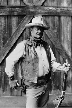 John Wayne, 'The Cowboys, Warner Brothers Studios, 1971 by Bob Willoughby, via Flickr