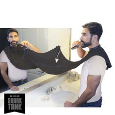 Use this tool to avoid the mess when you trim your beard! Makes life easier, plus girls won't be super grossed out when they use your bathroom. Beard Bib Black