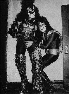 Ace Frehley grabbing Gene Simmons' junk.
