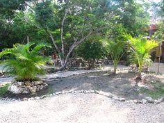 modelo de jardin con piedras antes