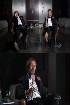 Hugh Laurie shoots himself in the foot with a paintball gun after Robert Sean Leonard told him not to. Robert Sean Leonard, House Md, Hugh Laurie, Paintball Guns, Future Husband, Geek, Tv, Awesome, Television Set