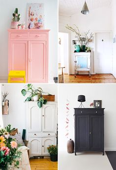 Creative Interior, Design, Decoration, Decor, and Deco image ideas & inspiration on Designspiration Painted Armoire, Painted Furniture, Furniture Projects, Furniture Makeover, Image Deco, Deco Boheme, Home Decor Inspiration, Creative Inspiration, Design Inspiration