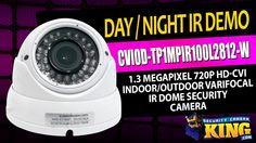 Day / Night IR Demo - CVIOD-TP1MPIR100L2812-W - 1.3 MP 720p HD-CVI Indoo...