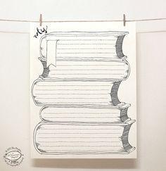 Hojas de papel DOODLE Nota: Conjunto de 4 diseños exclusivos | Creativo gobernaron páginas / organizadores | Reutilizables tamaño carta imprimible pdf plantillas