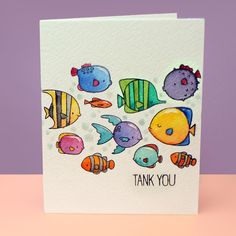 The celebration of #worldwatercolormonth needs more fish! And Gillfriends from @mftstamps has the cutest lil fishies ever, doesn't it?!? See the video tutorial over on the blog today! https://salln.net/2yt6iTf