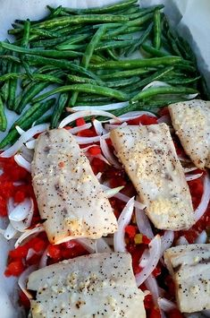 "Flavorful Mahi Mahi Sheet Pan Dinner | ""This is a quick way to get the dinner on the table. Serve the fish over rice."" #easy #easyrecipes #quickandeasy #easyrecipesideas #dinner #supper #sheetpandinner #easydinnerideas #sheetpansupper #easysupperideas Quick Supper Ideas, Dinner Ideas, Low Carb Recipes, New Recipes, Dinner Recipes, Lemon Green Beans, Sheet Pan Suppers, Food Wishes, Cooking With Olive Oil"