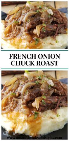 Pot Roast Recipes, Slow Cooker Recipes, Easy Dinner Recipes, Cooking Recipes, Chicken Recipes, Crockpot Meals, Healthy Recipes, Vegetarian Crockpot Recipes, Recipes With Beef Chuck Roast