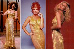 Bette Midler vs Ann Margret vs Cheryl Ladd in Bob Mackie Gold