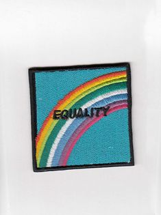 LOVE WINS #equality #LGBT     Get yo patch on!  #OMIGHTY IRON ON PATCH Embroidered Adhesive LENGTH 6.5CM, HEIGHT 6.5CM