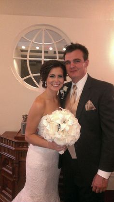 Anthony and Alicia were married at the Lewis and Clark chapel in Godfrey, Il on 5/31/14