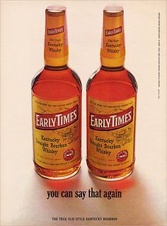 Early Times Bourbon Ad, c1965