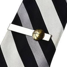 Basketball Tie Clip  Tie Bar  Tie Clasp  Business Gift