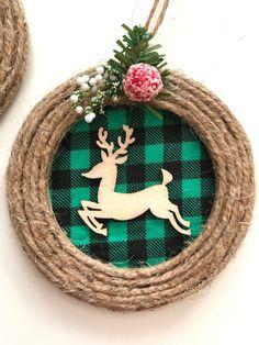 Renos renos navidad ornamentos / conjunto de 2 diferentes / image 6