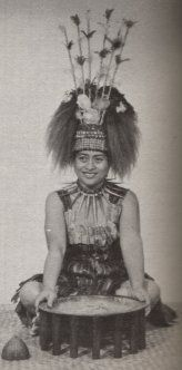 Fuatino Ponaivao Su'apa'ia,   a taupou (village maid of honour)  serving in the sacred kava ceremony, Samoa.