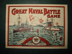 An example of the game Great Naval Battle with pictures, Royals Series, Name Games, Battle Games, Vintage Board Games, Hobby, Old Games, Board