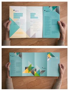 Geometric shapes that look professional and do not clutter. Pamphlets and flyers are great for showcasing layout and design skills