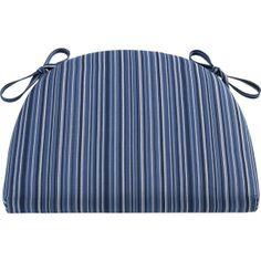 Kipling-Vintner Indigo Stripe Cushion in Barstools | Crate and Barrel