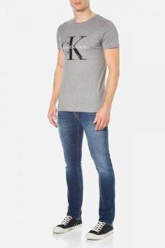 Calvin Klein Men's Re-Issue Crew Neck T-Shirt - Mid Grey Heather - S #modasto #giyim #erkek https://modasto.com/calvin-ve-klein/erkek/br1962ct59