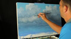 When We Need Rain A time lapse acrylic landscape cloud painting with Tim Gagnon Dyi Painting, Acrylic Painting Tutorials, Painting Videos, Painting Lessons, Online Painting, Painting Canvas, Painting Clouds, Painting Classes, Acrylic Landscape