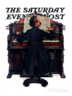 """""""Wedding March"""" Saturday Evening Post Cover, June 23,1928 Giclee Print by Norman Rockwell at AllPosters.com"""