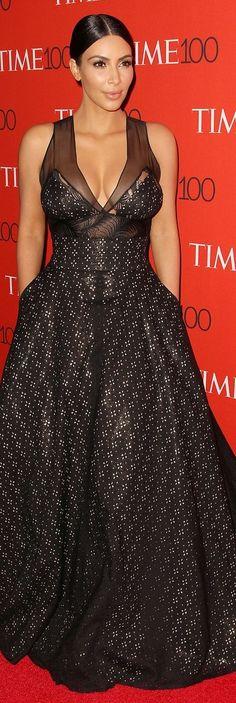 Kim Kardashian In Sophie Theallet – 2015 Time 100 Gala