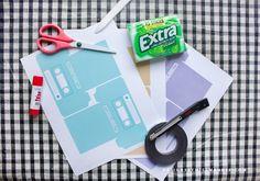 DIY Retro Gum Holder - Designs By Miss Mandee