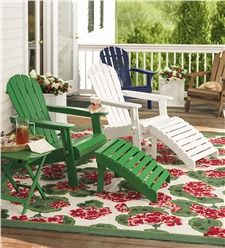 Wooden Adirondack Chairs - an American classic!  Crafted from high-grade, FSC-certified eucalyptus grandis, our Adirondack Furniture is built to last and look beautiful for years.