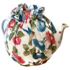 Teapot cozy tea warmers with Blue Red Flowers by CheriesSundries